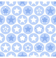 Geometric blue kids seamles pattern vector image