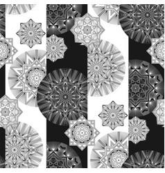 geometrical thin line snow seamless pattern vector image