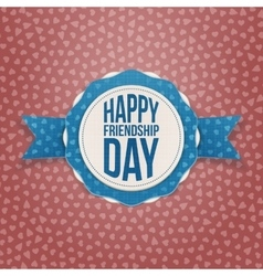 Happy Friendship Day Holiday Banner vector image