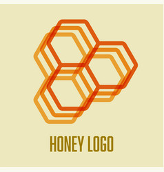 honeycomb bee icon logo concept design vector image