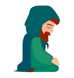 husband of jesus mother icon cartoon style vector image