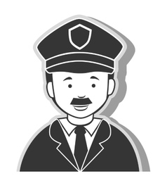 icon man policeman security isolated vector image
