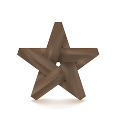 Impossible star imitation wood vector