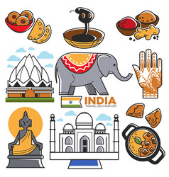 India tourism travel and indian culture vector