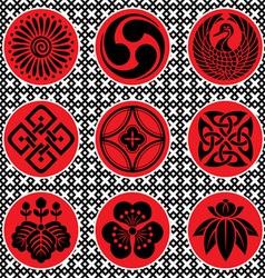 Japan ornament elements vector