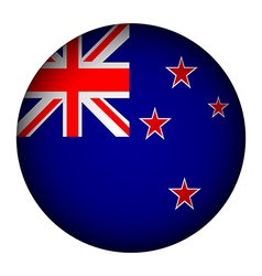 New Zealand flag button vector image