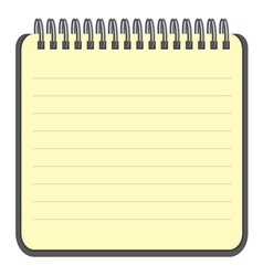 Notebook blank with metal wire vector