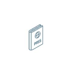 passport id document isometric icon 3d line art vector image
