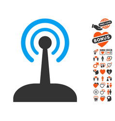 Radio control joystick icon with lovely bonus vector