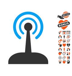radio control joystick icon with lovely bonus vector image