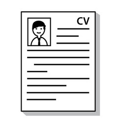 recruitment resume cv curriculum vitae document vector image