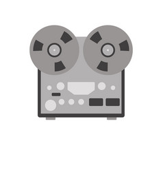 reel recorder flat style vector image