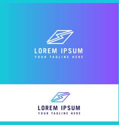 s letter line logo design concept template vector image