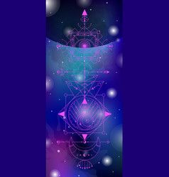 Sacred geometry on space vector