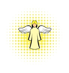 Saint angel comics icon vector