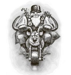 Santa Claus Biker vector