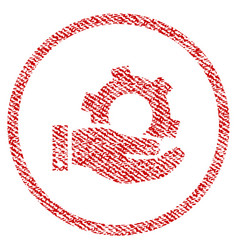 Service fabric textured icon vector