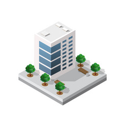 small isometric module vector image