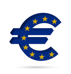 surround the euro sign vector image