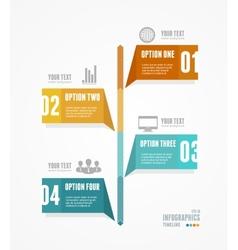 Timeline infographic retro style vector