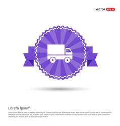 truck icon - purple ribbon banner vector image