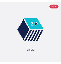 Two color 3d de icon from education concept vector