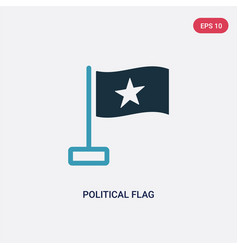 Two color political flag icon from political vector