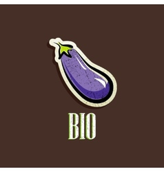vintage with an eggplant vector image
