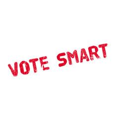 Vote smart rubber stamp vector