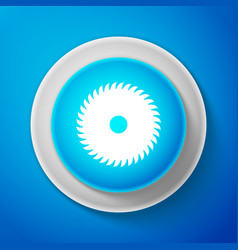 White circular saw blade icon saw wheel vector