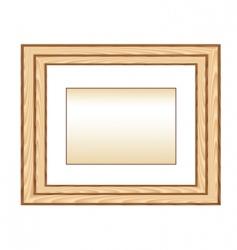 wood photo framework vector image vector image