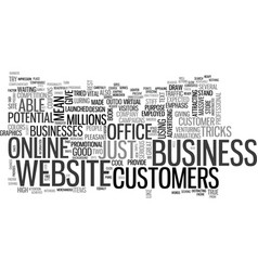 your website as a virtual office text word cloud vector image