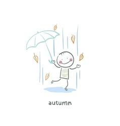 Autumn walk vector image vector image