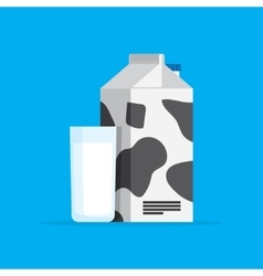 carton of milk and the in a glass vector image