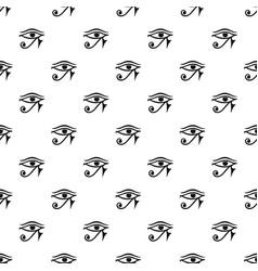 eye of horus egypt deity pattern vector image vector image