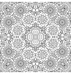 Full frame kaleidoscope background of patterns vector image
