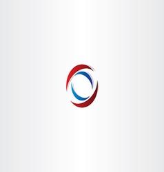 red blue logo letter o symbol vector image