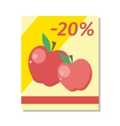 Apple Sale in Flat Design vector image
