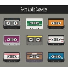 Audio cassette Flat tapes vector image vector image