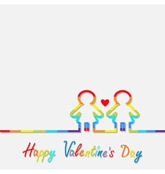 Happy Valentines Day Love card vector image vector image