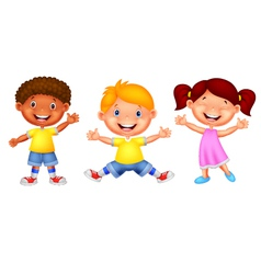 Happy young children vector image vector image