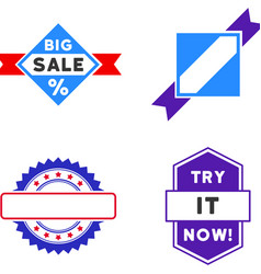sale seal stamp flat icons vector image