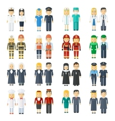 set of professions vector image
