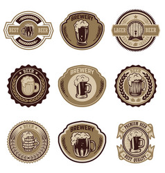 set of vintage beer labels design elements for vector image