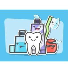 Best friends of healthy teeth vector image vector image