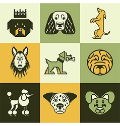 dogs logo icons vector image