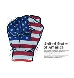 fist flag USA United States of America vector image