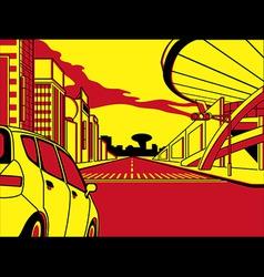 future crossroad vector image vector image