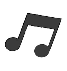 music note melody sound icon vector image