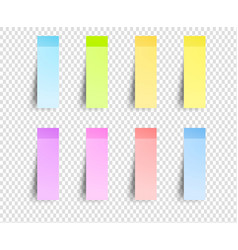 post sticker sticky papers bookmarks vector image vector image